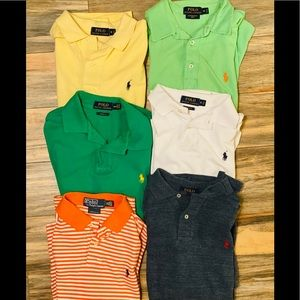 Sz M Bundle of 6 Ralph Lauren polo shirts